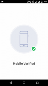 Mobile number verified