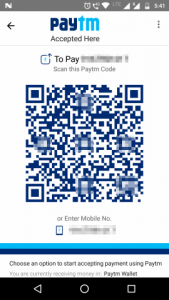 Your QR code can be accessed from the section 'Accept payment'